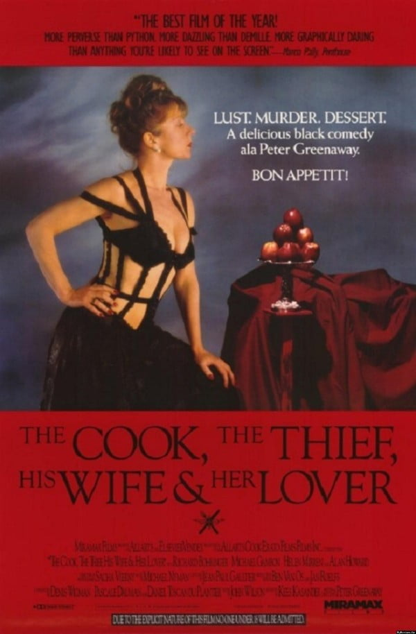 The Cook, the Thief, His Wife & Her Lover (1989) - Peter Greenaway